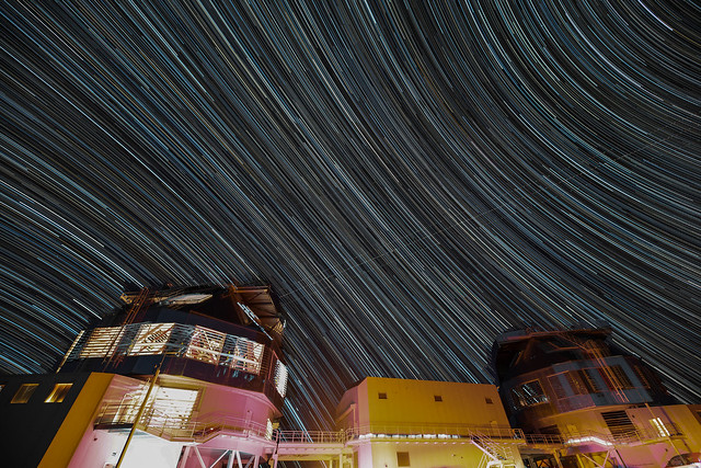 Startrails over the Magellan Telescopes