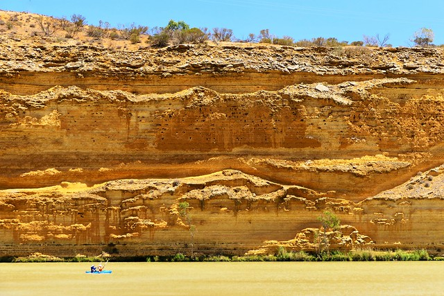 Kayak and Cliffs, Murray River, South Australia