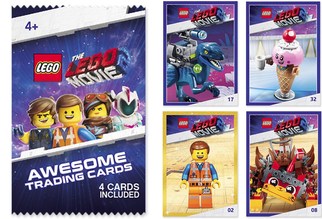 Lego Movie 2 Awesome Trading Card Pack Not Sure On All Of Flickr