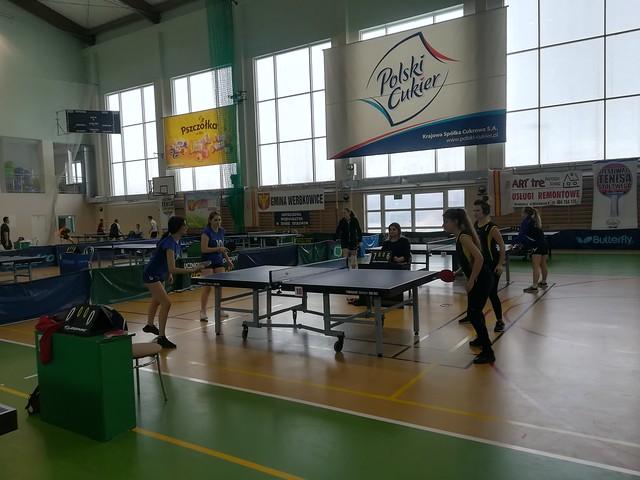 Mistrzostwa Rejonu w Drużynowym Tenisie Stołowym – 31.01.19r. Werbkowice