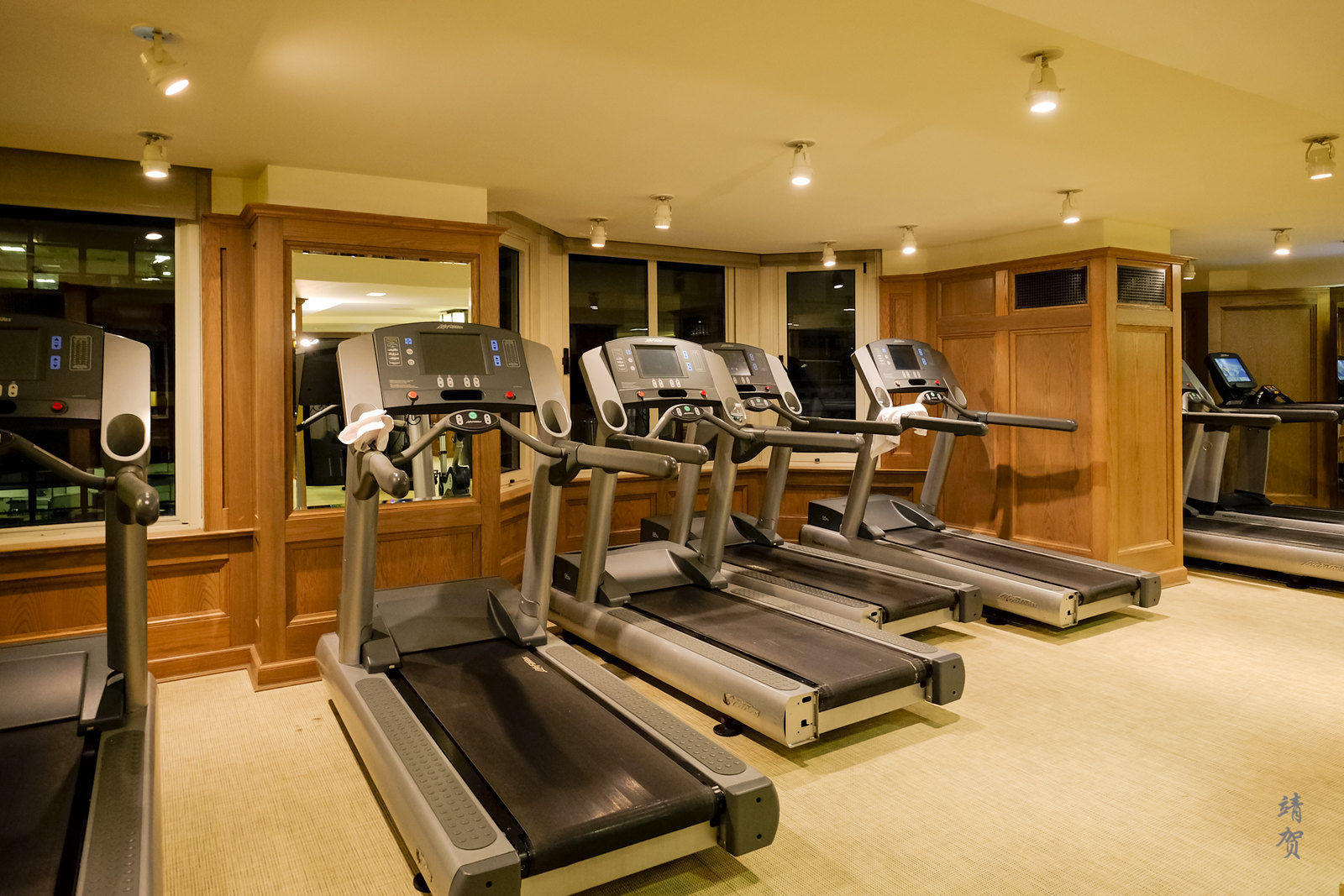 Treadmill in the fitness centre