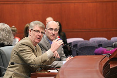 Rep. Ackert and Columbia Town Administrator testify on SB 1068 which would make changes to the minimum budget requirement