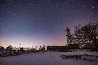 Sternenhimmel über dem Raßberg