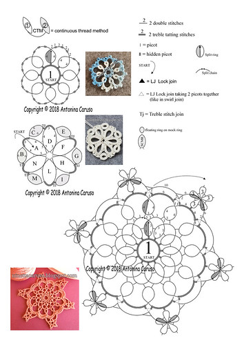 treble tatting - little motifs   by ninettacaruso