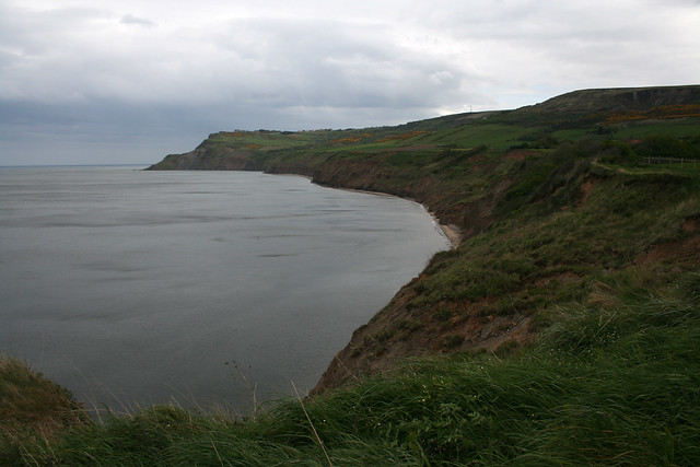Looking to Ravenscar from near Boggle Hole