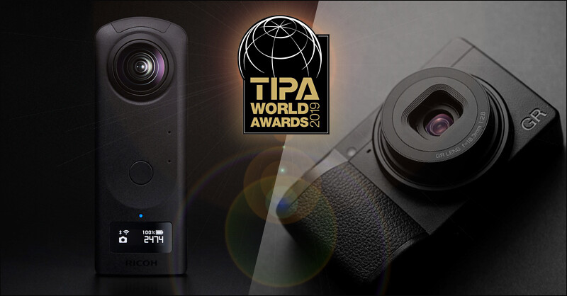 RICOH GR III & THETA Z1 won TIPA World Awards 2019
