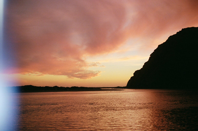 Morro Bay sunset film