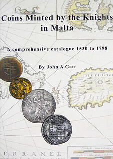 Coins Minted by the Knights in Malta book cover | by Numismatic Bibliomania Society