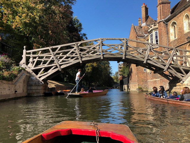 Traffic jam at the Mathematical Bridge
