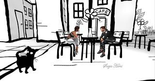 Love in cartoon Black & White