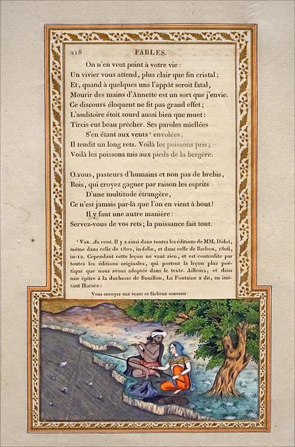 Fable de La Fontaine illustrée par Imam Bakhsh Lahori (Musée Guimet, Paris)