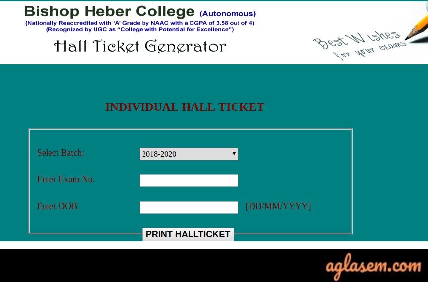 Bishop-Heber-College-Hall-Ticket