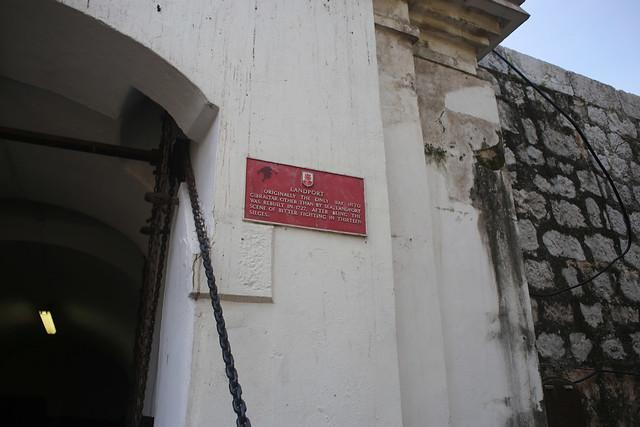 Original entrance to Gibraltar