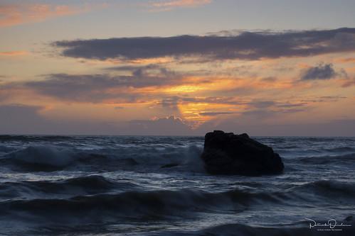 cokinfilter sunset dusk sun clouds pink purple orange yellow blue sea ocean pacificocean rocks shoreline salmoncreekbeach bodegabay sonomacoast sonomacoaststatebeach californiastateparks highway1 shorelinehighway northcoast northerncalifornia california