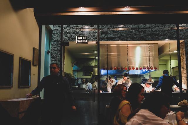 The kitchen at Central Restaurante