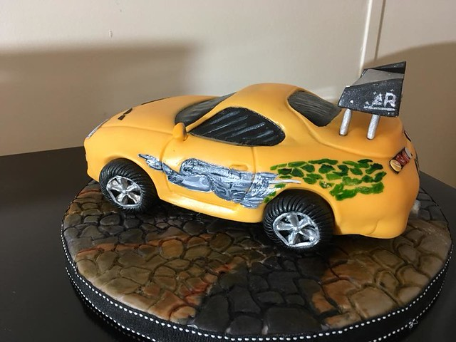 Fast and Furious Theme Cake from Kuztom Cakes by Liz
