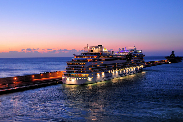 Cruise Ship at Blue hour (Sunset)