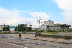 The central part of Tomsk city