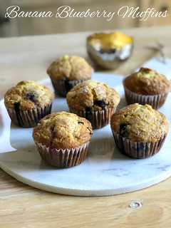 Banana Blueberry Muffins | by DolceDanielle