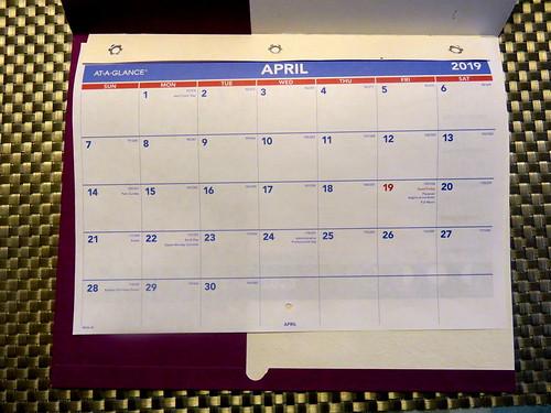 April 2019 Diary