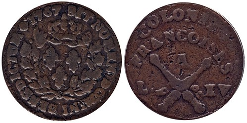 1767-A French Colonies Copper Sou
