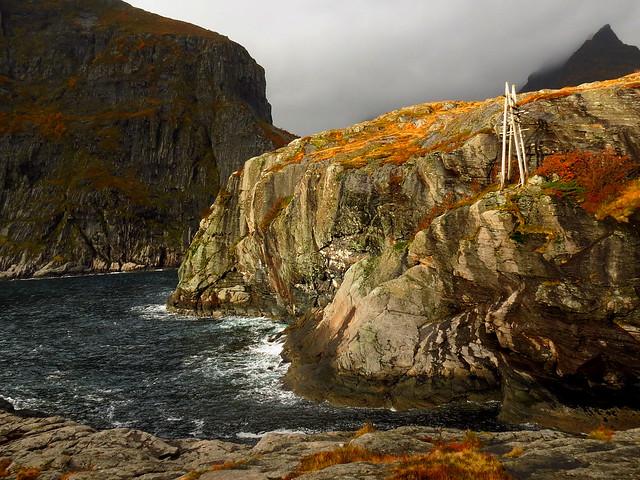 Lofoten Islands Norway Moskenesoy Sorvagen headland