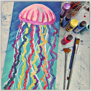 Jellyfish painting | by milly and tilly