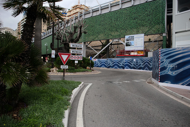 Entering Monaco from the east