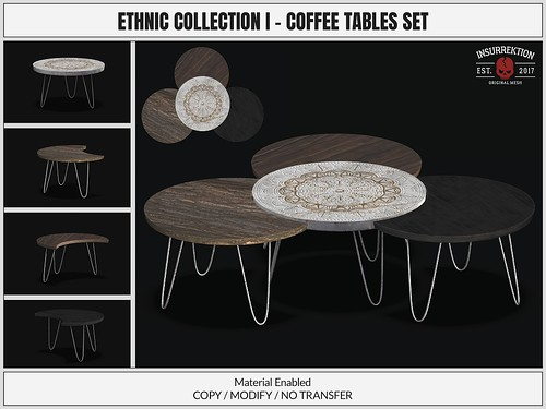 [IK] Ethnic Collection I - Coffee Tables Set