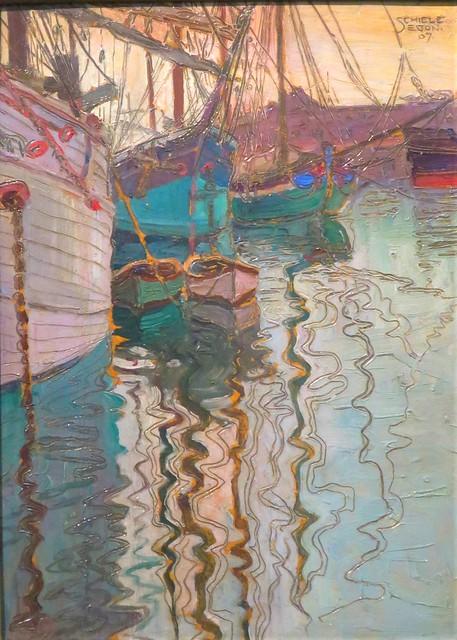 Le Port de Trieste (1907), Egon Schiele - Leopold Museum, Vienne