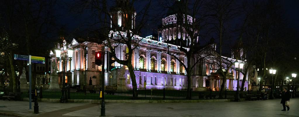 BELFAST CITY HALL AT NIGHT 010
