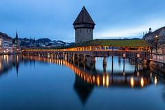 Kapellbrücke blue hour