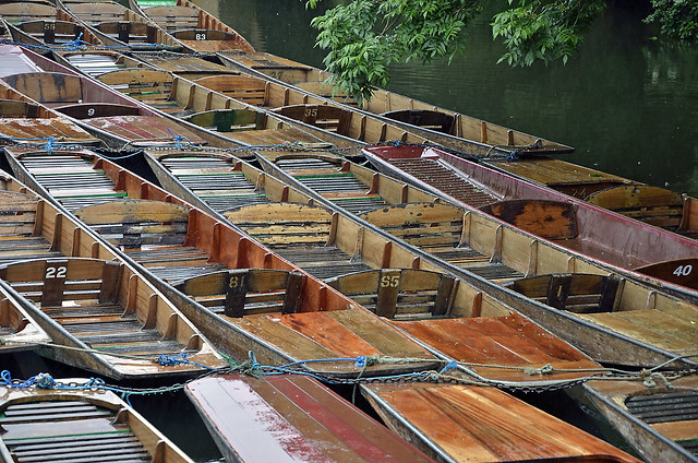 Wooden punts in Oxford  -  (Selected by SHUTTERSTOCK)