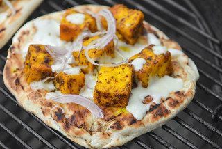 Naan Pizza with Spiced Paneer | by joshbousel