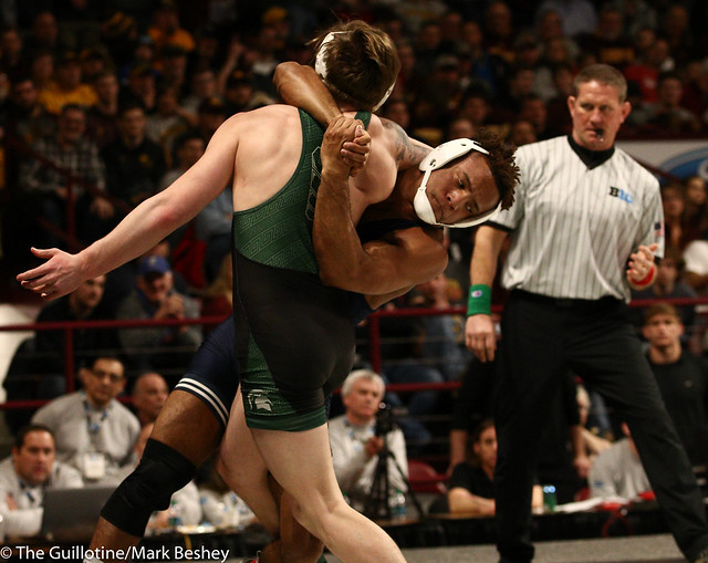 Quarterfinal - Mark Hall (Penn State) 24-0 won by fall over Drew Hughes (Michigan State) 24-12 (Fall 2:39) - 1903amk0308