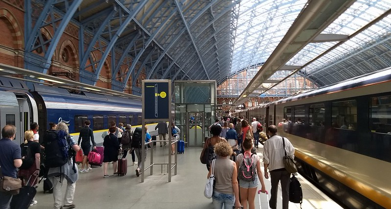 Eurostar at St Pancras station, London