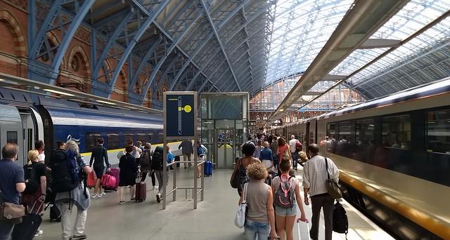 Eurostar at St Pancras station, London