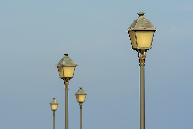 Four street lights