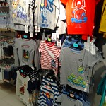 """T-shirts in a section of the shop labelled """"Boys"""", Marks and Spencer, Birmingham"""