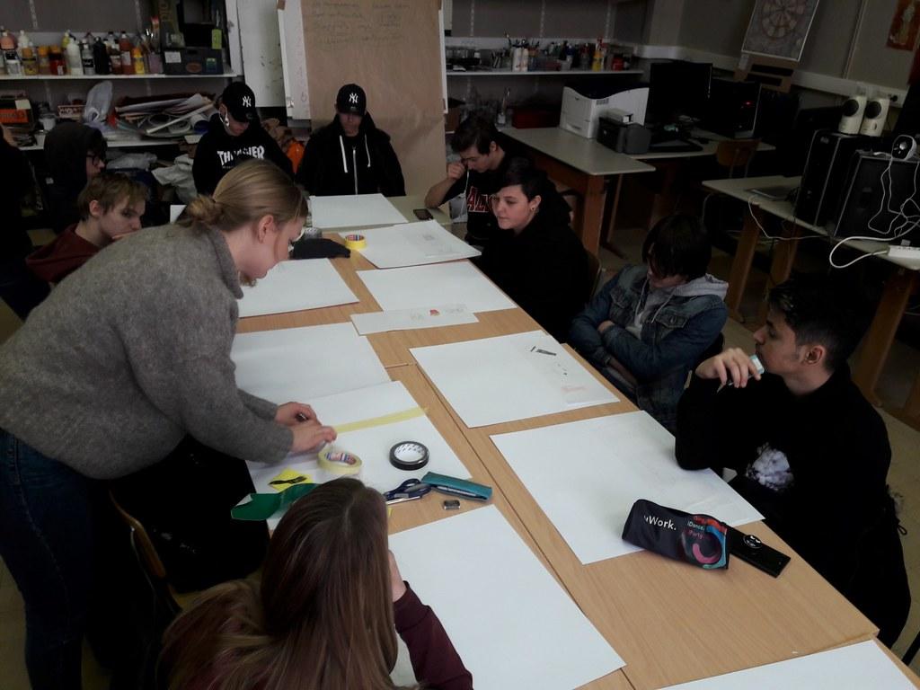 sessie 2 ateliersDKO schilderen met tape (4)