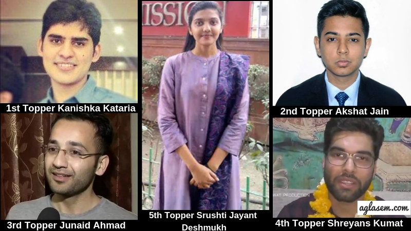 1st Fiver Toppers - UPSC Civil Services 2019