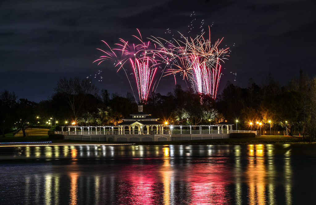 Illiminations from Boardwalk red fireworks