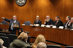 Rep. Arthur O'Neill joined his colleagues in Danbury for an information session on the toll proposals before the legislature