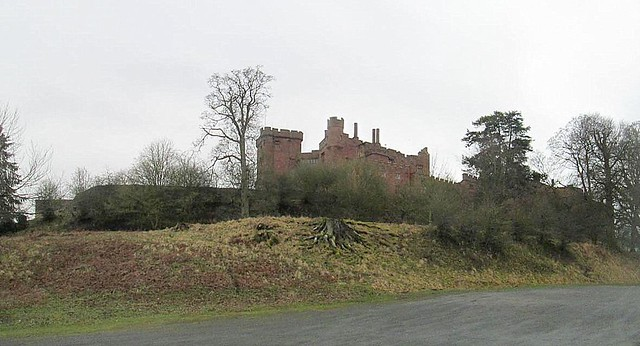 Powis Castle from Car park
