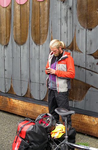 Texter at Tofino on Vancouver Island