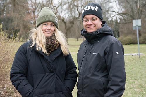 Helena Larand, Nordisk Film TV, och Johan Karlsson, Norrköpings kommun