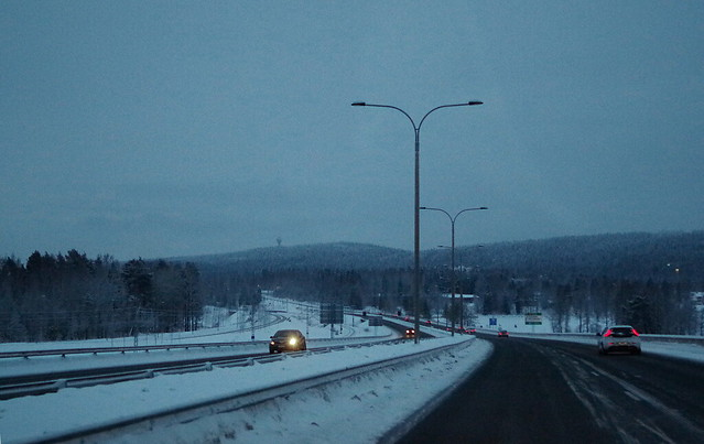 Approaching Kuopio from north