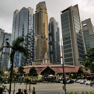 A city detail in Singapore
