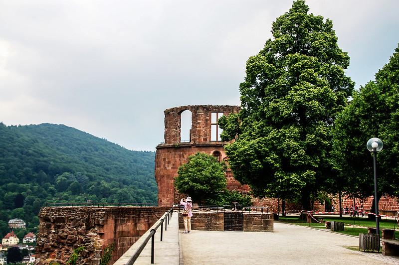 海德堡古堡的斷垣殘壁 2