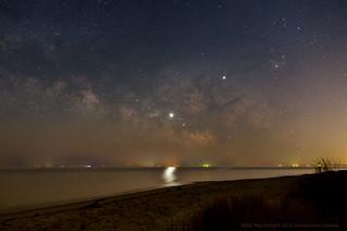 Milky Way from Bethel Beach Virginia